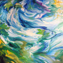 SPRINGTIME ABSTRACT 30x30 ORIGINAL OIL (thumbnail)