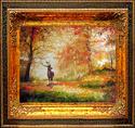 Painting--Oil-LandscapeDEER PATH by M BALDWIN