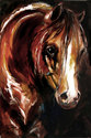 EBONY NIGHTS ~ EQUINE ART ORIGINAL (thumbnail)