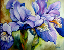 LOUISIANA WILD IRIS ABSTRACT (thumbnail)