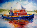Painting--Oil-LandscapeTUG BOAT NEW ORLEANS by M BALDWIN