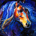 FRIESIAN NIGHT ~ OIL ~ ORIGINAL by M BALDWIN (thumbnail)