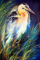 BLUE HERON of LOUISIANA ~ OIL ~ 36x24 ~by M BALDWIN (thumbnail)