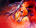 WIND RUNNER ~ EQUINE ART by M BALDWIN (thumbnail)