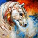 APPALOOSA WARRIOR ~ EQUINE ART by M BALDWIN (thumbnail)