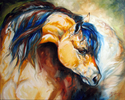 BUCKSKIN ~ EQUINE ART by M BALDWIN (thumbnail)
