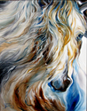 MANE EVENT ~ An Equine Abstract by M Baldwin (thumbnail)