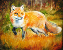Painting--Oil-AnimalsLITTLE RED FOX