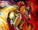 EQUUS WILD FURY ~ An Equine Abstract by M Baldwin (thumbnail)