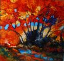 Fall Landscape Red Trees (thumbnail)