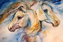 BOLD & BEAUTY ~ AN EQUINE ABSTRACT by M BALDWIN (thumbnail)