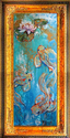 SERENITY ~ MODERN KOI ABSTRACT by M BALDWIN (thumbnail)