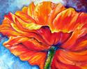 Painting--Oil-FloralPOPPY SPLASH ~ by M BALDWIN