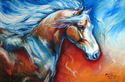 MIDNIGHTS RUN ~ EQUINE ORIGINAL by M BALDWIN (thumbnail)