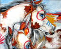 INTO THE WEST WAR PONIES by M BALDWIN (thumbnail)