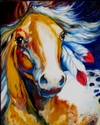 WARRIOR INDIAN PONY 1620 by M BALDWIN (thumbnail)