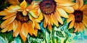 Painting--Oil-FloralSUNFLOWER DANCE