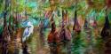 Painting--Oil-LandscapeBLUE HERON BAYOU