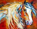 Painting--Oil-AnimalsUNTAMED SPIRIT by M BALDWIN ~ EQUINE ART ORIGINAL