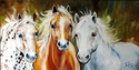 Painting--Oil-AnimalsWILD TRIO EQUINE