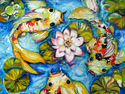 FROG POND & KOI by M BALDWIN (thumbnail)