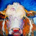 BLUE MOON BULL by M BALDWIN FINE ART ORIGINALS (thumbnail)