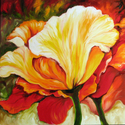 GOLDEN POPPY ABSTRACT by M BALDWIN (thumbnail)