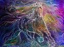 GYPSY VANNER BATIK WATERCOLOR (thumbnail)
