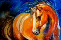 OUT of the BLUE EQUUS by M BALDWIN Original OIl 54 x 36 (thumbnail)