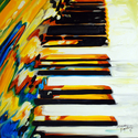 JAZZ PIANO ABSTRACT by M BALDWIN (thumbnail)