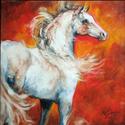 FLAME ARABIAN ~ EQUINE ART (thumbnail)