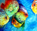 Painting--Oil-SeascapeTROPICAL FISH COLORS