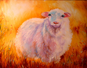 Painting--Oil-AnimalsLITTLE LOST SHEEP