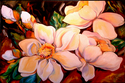 Painting--Oil-FloralSOUTHERN MAGNOLIA V