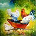 IT'S a PARTY !! ~ original oil painting 24x24 by MARCIA BALDWIN (thumbnail)