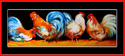 Painting--Oil-AnimalsRooster Row