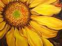 Painting--Oil-FloralSUMMER'S NIGHT SUNFLOWER