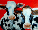 Painting--Oil-AnimalsMY 2 FAT COWS