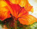 Painting--Oil-FloralGOLDEN POPPY ABSTRACT