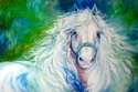 DREAM ANDALUSIAN ~ Equine Art Original Oil Painting 36 x 24 by MARCIA BALDWIN (thumbnail)