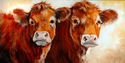 Painting--Oil-AnimalsCOW COW
