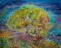 Painting--Watercolor-LandscapeTREE OF LIFE BATIK IV