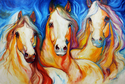 Painting--Oil-AnimalsSPIRITS THREE EQUINE ART
