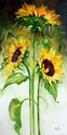TRIPLE SUNNY SUNFLOWERS  (thumbnail)