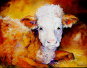 Painting--Oil-AnimalsPRIZE CALF