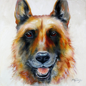 LAW OFFICER the GERMAN SHEPHERD COMMISSIONED PORTRAIT (thumbnail)