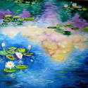 REFLECTIONS on A WATERLILY POND (thumbnail)