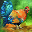Painting--Oil-AnimalsIT'S MORNING TIME !! ROOSTER