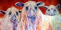 Painting--Oil-AnimalsSWEET WENSLEYDALES by M BALDWIN