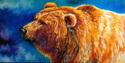 Painting--Oil-WildlifeBEAR by M BALDWIN